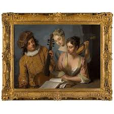 philip mercier works on at auction biography philip mercier 1689 1760 a musical party oil on canvas in a british