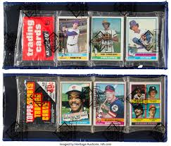 Some are cellos which contain more than one pack and some. 1976 Topps Baseball Rack Pack Pair 2 Baseball Cards Unopened Lot 81024 Heritage Auctions