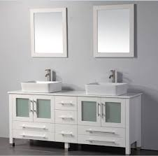 MTD Malta 71 inch White Double Vessel Sinks Bathroom Vanity, Solid ...