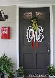 front door wreath hanger12 Festive Front Door Ideas  The New Home Ec  Books Worth