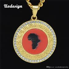 whole africa map pendant necklace small map necklace gold tone whole african maps pendant hiphop cool item for men women mom pendant necklace pearl