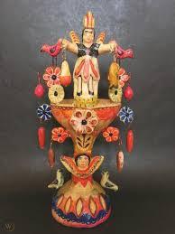 Aurelio Flores Incensario ca 1960s * Mexican Pottery Folk Art | #1825862113