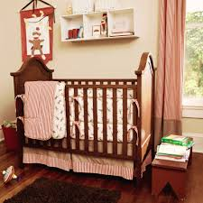 brown monkey crib bedding set