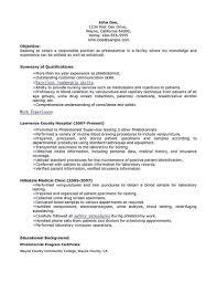 Phlebotomist Job Description Resume Awesome Entry Level Phlebotomy