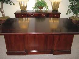 pre owned home office furniture. TRADITIONAL DESK WITH CREDENZA Pre Owned Home Office Furniture T