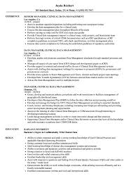 Examples Of Management Resumes Manager Clinical Data Management Resume Samples Velvet Jobs 19