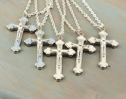 enamel cross necklace sterling silver chain byzantine cross orthodox cross for him for her confirmation convocation graduation gift