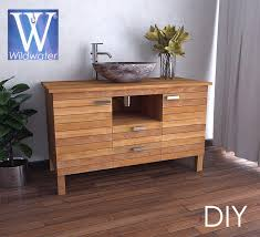 diy bathroom furniture. Plain Diy DIY Teak Bathroom Vanities To Diy Bathroom Furniture