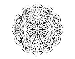 Dibujo De Mandala Flor Y Hojas Para Colorear Dibujos Net