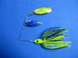 Details About 1 2 Oz Spinner Bait Chart Blue Fishing Lure Bass R