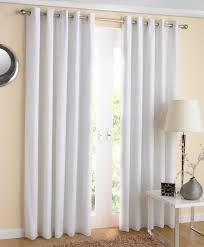 new york eyelet lined voile curtains white