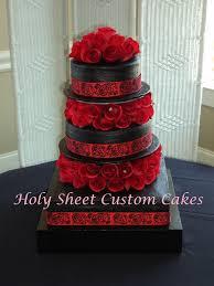 Black And Red Wedding Cake Wedding Pinterest Red Wedding