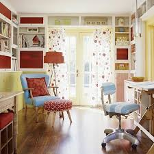 Cool home office designs cute home office Arrange Cute Colorful Home Office Design With Wooden Floor And Flower Motif Curtain Image News And Talk About Home Decorating Ideas Cute Colorful Home Office Design With Wooden Floor And Flower Motif