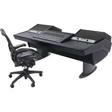 argosy g22 desk for avid s3 workstation with dual 9 ru racks black finish