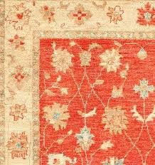 orange oriental rug 4 x 6 hand knotted and navy