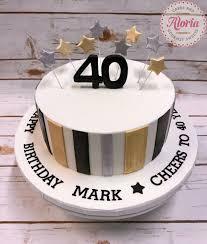 Cupcake Designs For Men 40th Birthday Cakes For Men Fondant Cake Birthday Cake Man