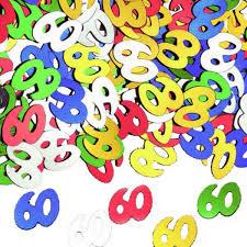 Confettis de table anniversaire 60 ans