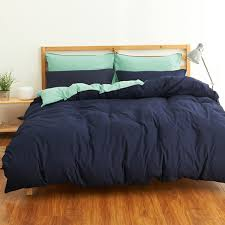 bed sets twill full queen king double bedlinen solid color duvet cover flat sheet pillowcase bedding set in bedding sets from home garden on