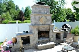 modular concrete outdoor fireplace kits wood burning storage bo stone