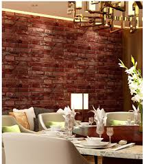 old brick dining room sets 18 rustic vintage style 3d faux brick wallpaper roll vinyl old