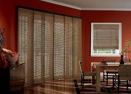 sliding door vertical blinds. Blinds, Sliding Door Vertical Blinds Shades For Glass Doors Dark Orange Dining Room With