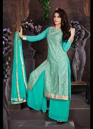 Pakistani Designer Palazzo Pants Turquoise Net Pakistani Style Palazzo Pant Suit Indian