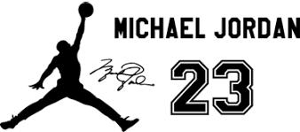 Wandtattoo Michael Jordan Logo - TenStickers