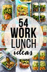 54 healthy lunch ideas for work collage photo