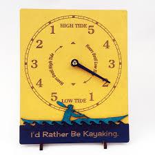 yellow sea kayaker tide clock
