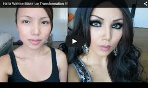 haifa wehbe makeup transformation