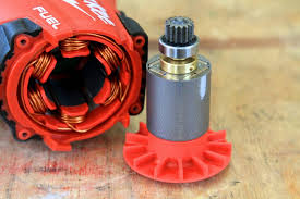 brushless motor inside. even inside, the milwaukee fuel cordless drill is simple. only moving part in brushless motor inside