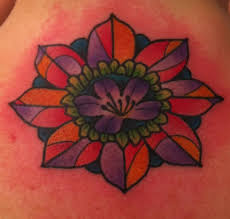 stained glass rose tattoo
