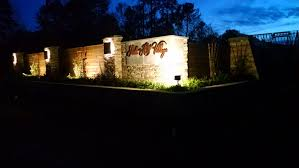 illuminating the entrance for this beautiful neighborhood was a top priority for their home owner s association aside from making the entry easily visible