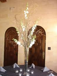 Image detail for -vase -curly willow -white dendrobium orchids
