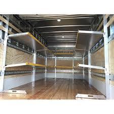 e track shelving folding shelves trucking and heavy haul super ez truck