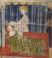 feminae details page title lady bertilak tries to seduce sir gawain from sir gawain and the green knight