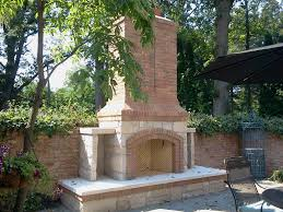 this outdoor fireplace