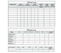 Exercise Logs Template Diet Tracking Template Fitness Planner Definition Biology Dna