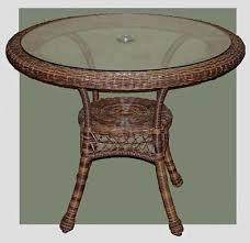 outdoor wicker patio table 4178