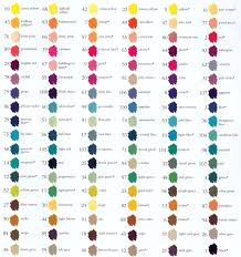 Eternal Ink Colour Chart Marvy Leplume Ii Markers Color Chart Art Impressions