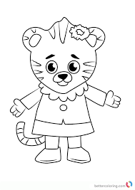 Margaret Tiger From Daniel Tiger Coloring Pages Free Printable