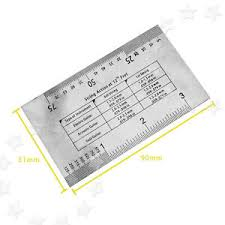 Bass Conversion Chart Details About String Gauge Action Ruler Guide Setup Measuring Luthier For Electric Guitar Bass