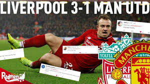 Liverpool v Man United 3-1   #LFC Fan Twitter Reactions - YouTube