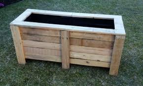 large custom pallet wood planter box