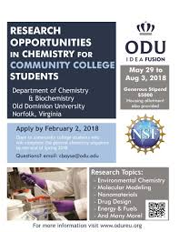 how many flyers should i put in a university summer research internship in chemistry for community college