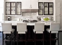 white kitchens with stainless appliances. Black And White Kitchen 4 Leather Bar Stools Stainless Steel Appliances 3 Deco Ceiling Lamps Kitchens With S