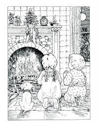 Santa Coloring Pdf Littledelhisfus