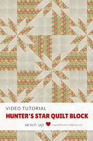 Video tutorial: Hunter's star quilt block – quick and easy ... & Video tutorial: Hunter's star quilt block - use Christmas colours to make a  Christmas quilt Adamdwight.com
