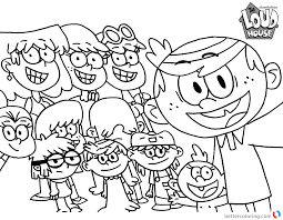 Loud House Coloring Pages Selfie Free Printable Coloring Pages