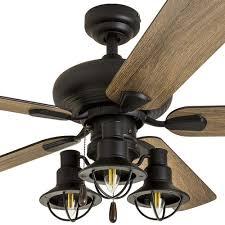 patriot lighting crown point 52 matte black industrial led ceiling fan